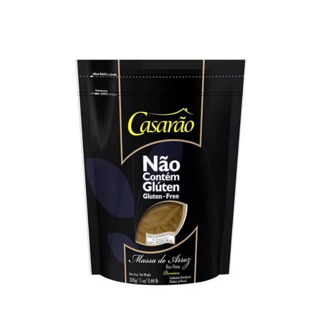 Massa de Arroz Premium Penne 200g Casarão