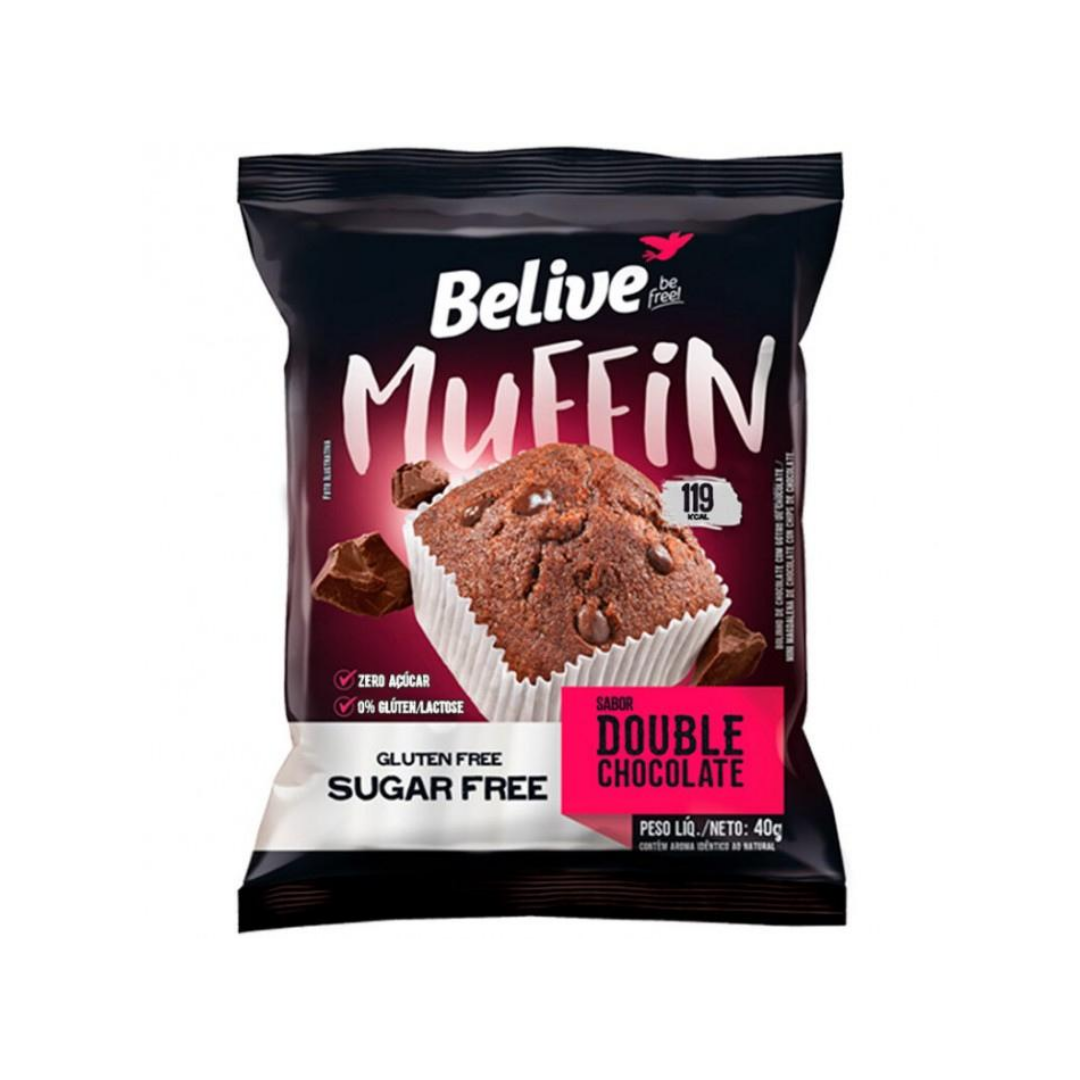 Muffin Double Chocolate Zero 40g  Belive