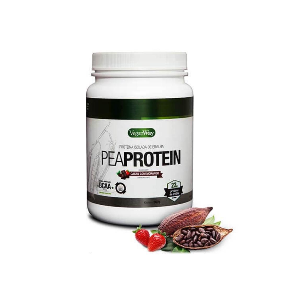 Pea Protein (Proteína Ervilha) Sabor Cacau e Morango 900g VeganWay