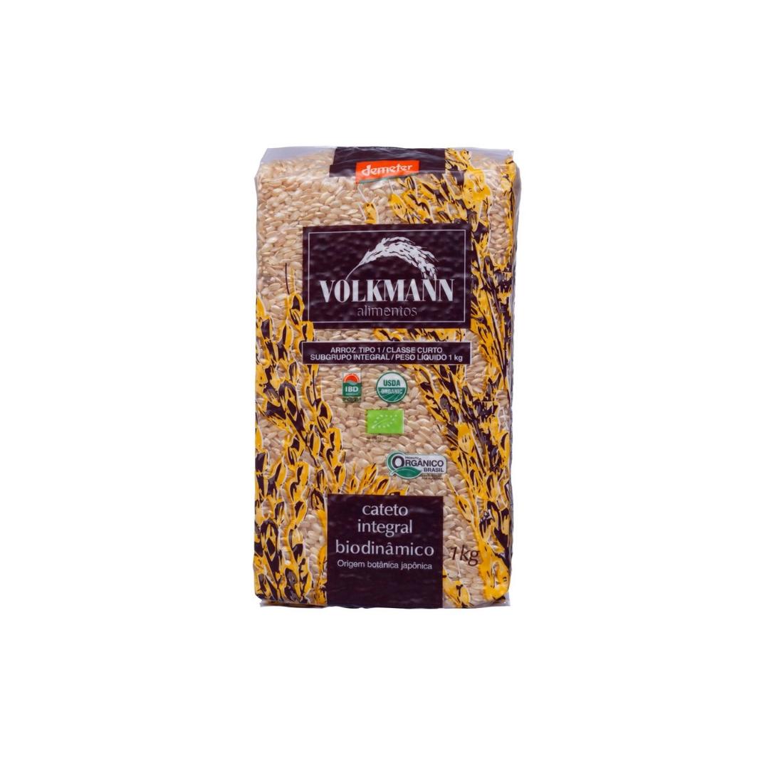 Arroz Cateto Integral Orgânico Biodinâmico 1kg Volkmann