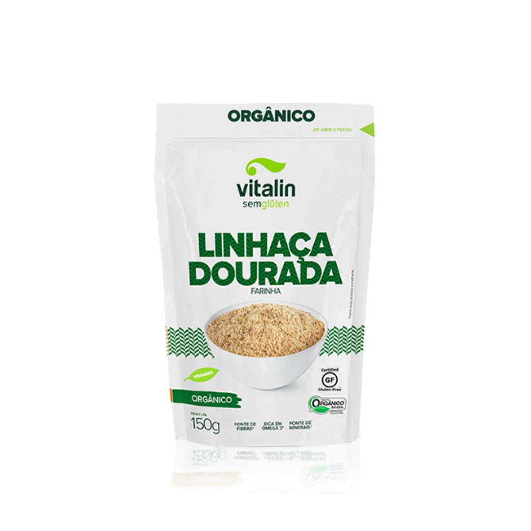 Linhaça Dourada Farinha Orgânico 150g Vitalin