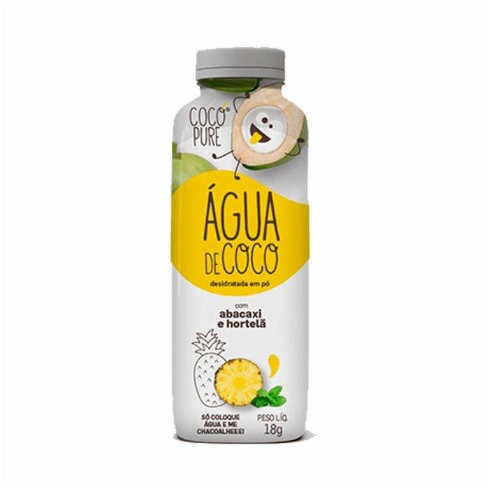 Água de Coco com Abacaxi e Hortelã 18g Garrafinha Cocopure