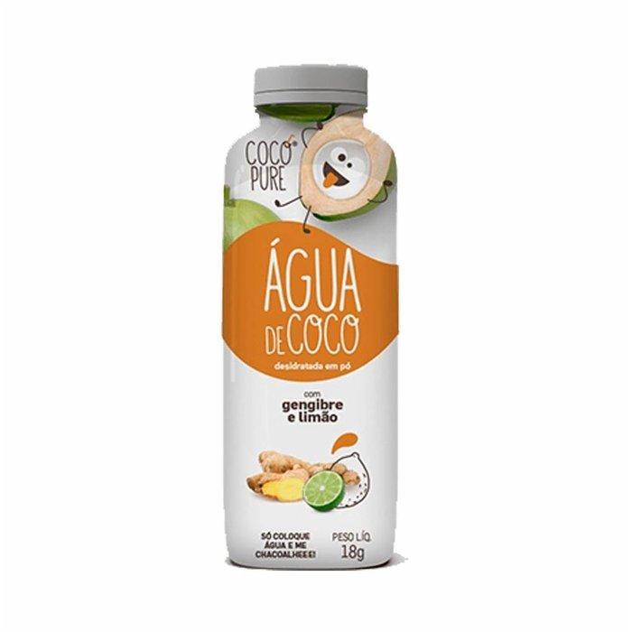 Água de Coco com Gengibre e Limão 18g Garrafinha Cocopure