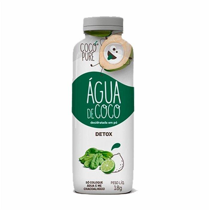 Água de Coco Detox 18g Garrafinha Cocopure