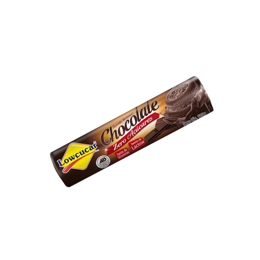 Biscoito Recheado  Zero Açucares Sabor Chocolate 120g Lowçucar