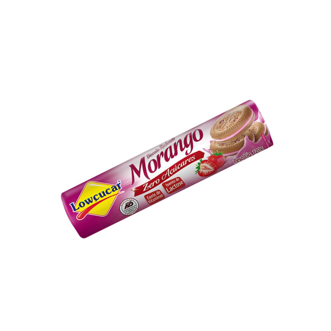 Biscoito Recheado Zero Açucares Sabor Morango 120g Lowçucar