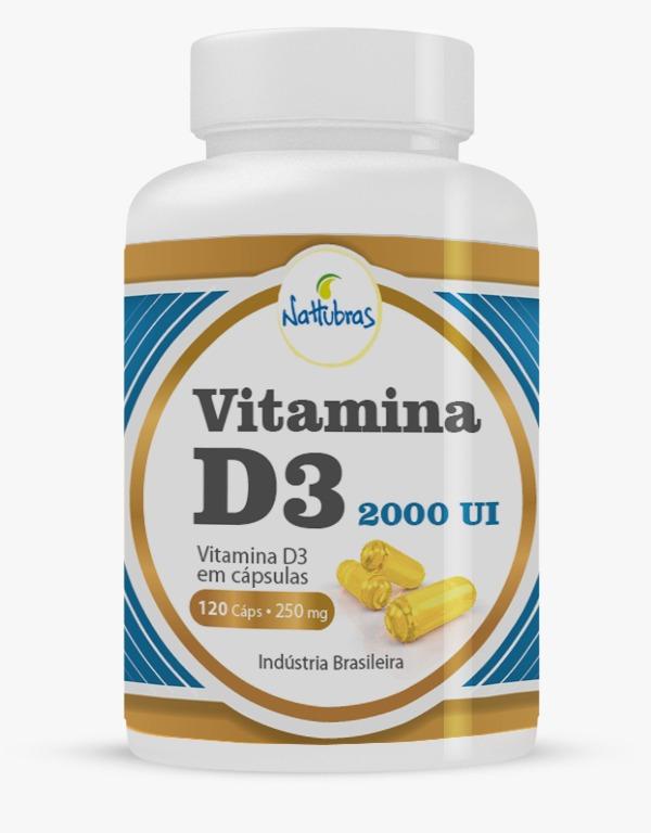 Vitamina D3 2000UI 120 cápsulas Nattubras