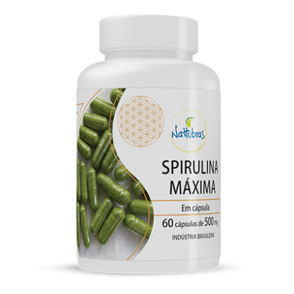 Spirulina Máxima 60 cápsulas - 500mg Nattubras