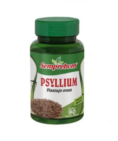 Psyllium 90 cápsulas - 500 mg Semprebom
