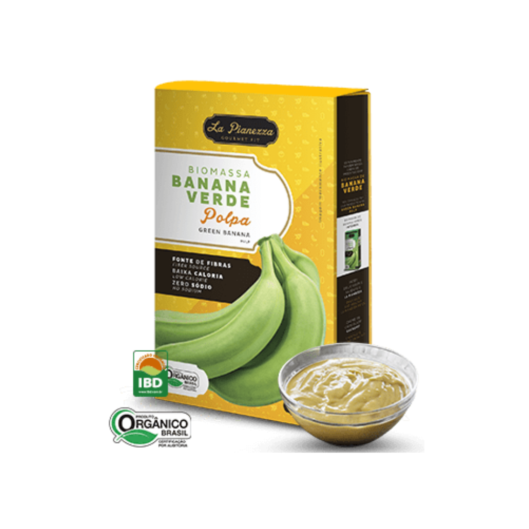 Biomassa de Banana Verde Orgânica Polpa 250g La Pianezza