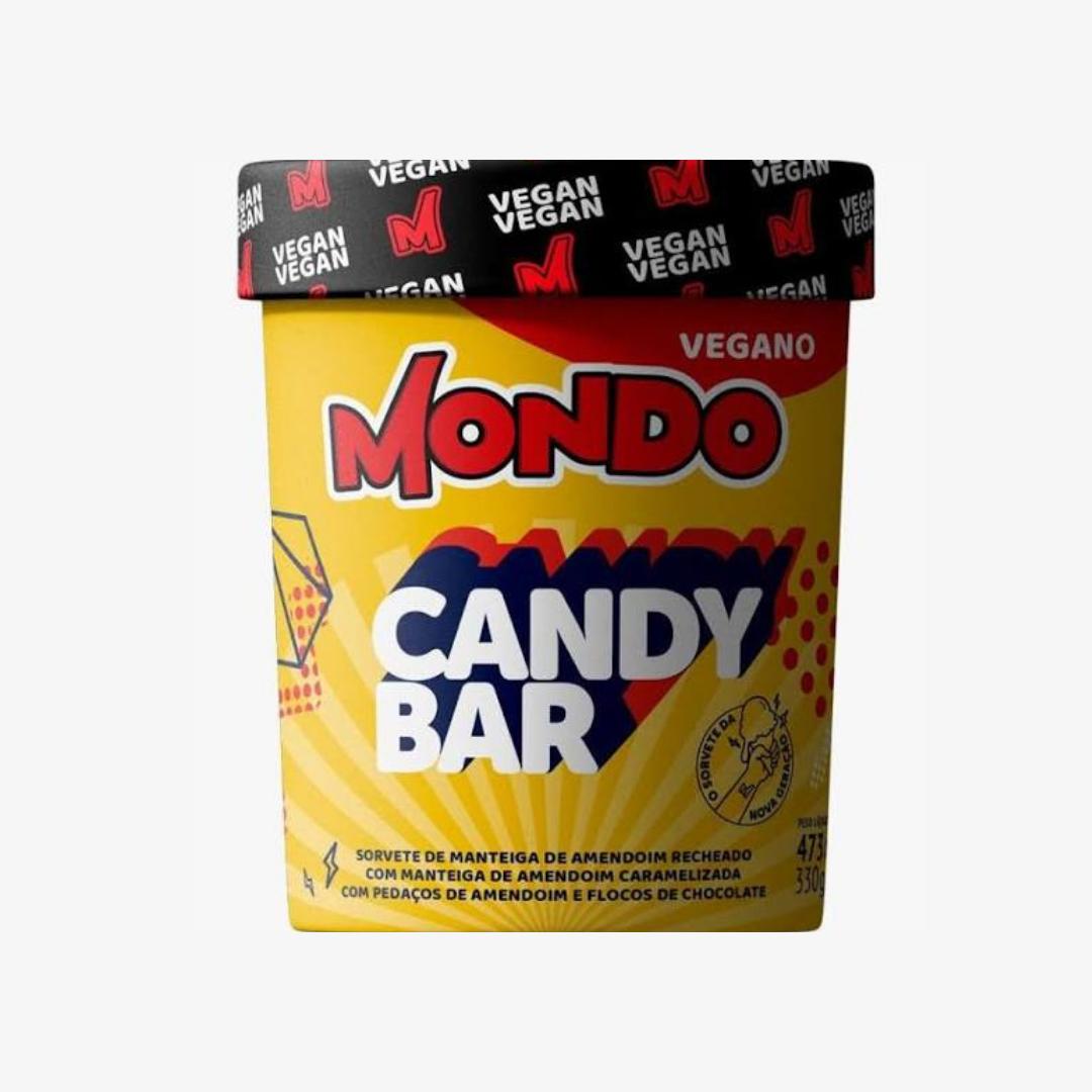 Sorvete Vegano CandyBar 473ml 330g Amendoim Mondo