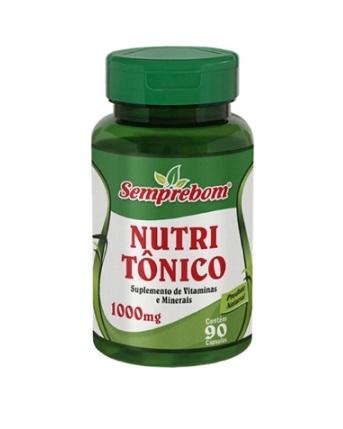 Nutri Tônico (Suplemento de Vitaminas e Minerais) 90 cápsulas 1000mg SempreBom
