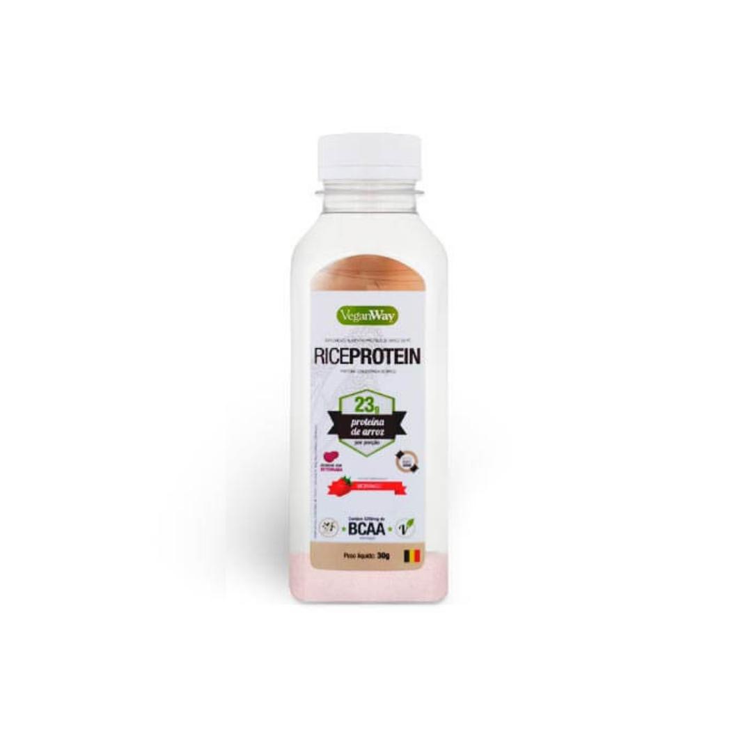 Rice Protein (Proteína Arroz) sabor Morango 30g Dose Única VeganWay