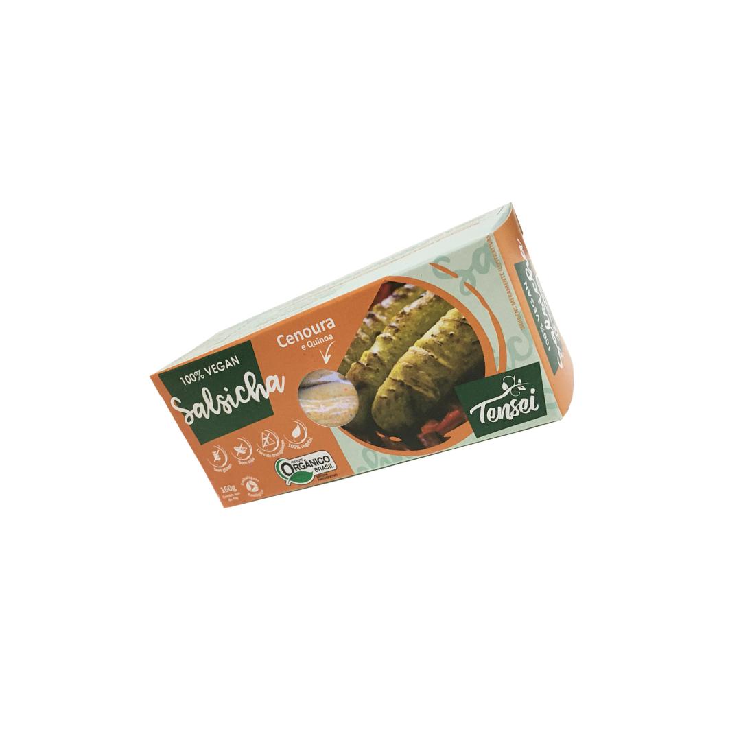 Salsicha Vegana de Cenoura e Quinoa Orgânica 160g Tensei