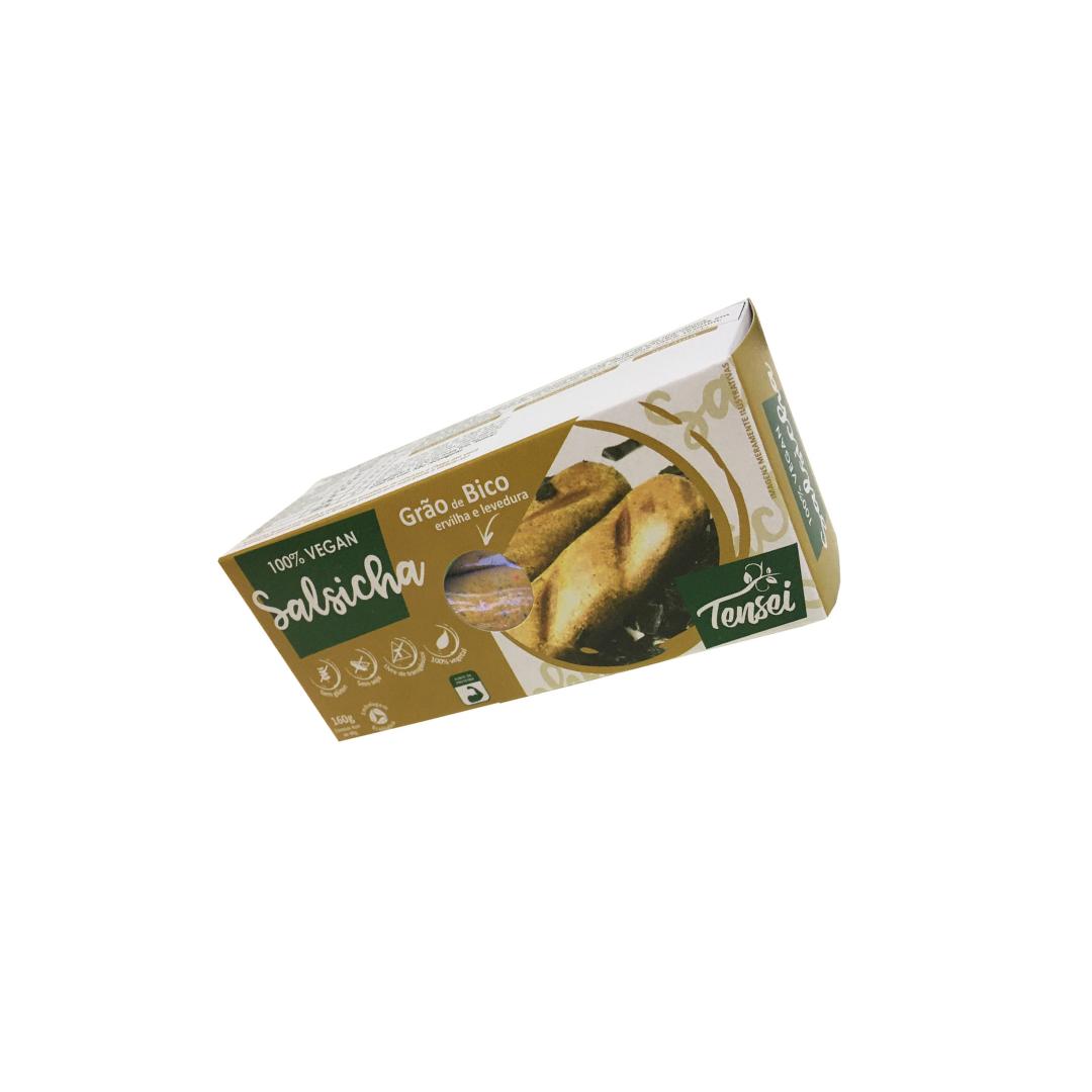 Salsicha Vegana de Grão de Bico, Ervilha e Levedura Nutricional 160g Tensei
